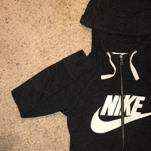 NEW Nike Charcoal Zip-Up Hoodie